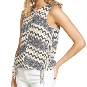 Ella Moss Open Knit Alexandria Sweater Top